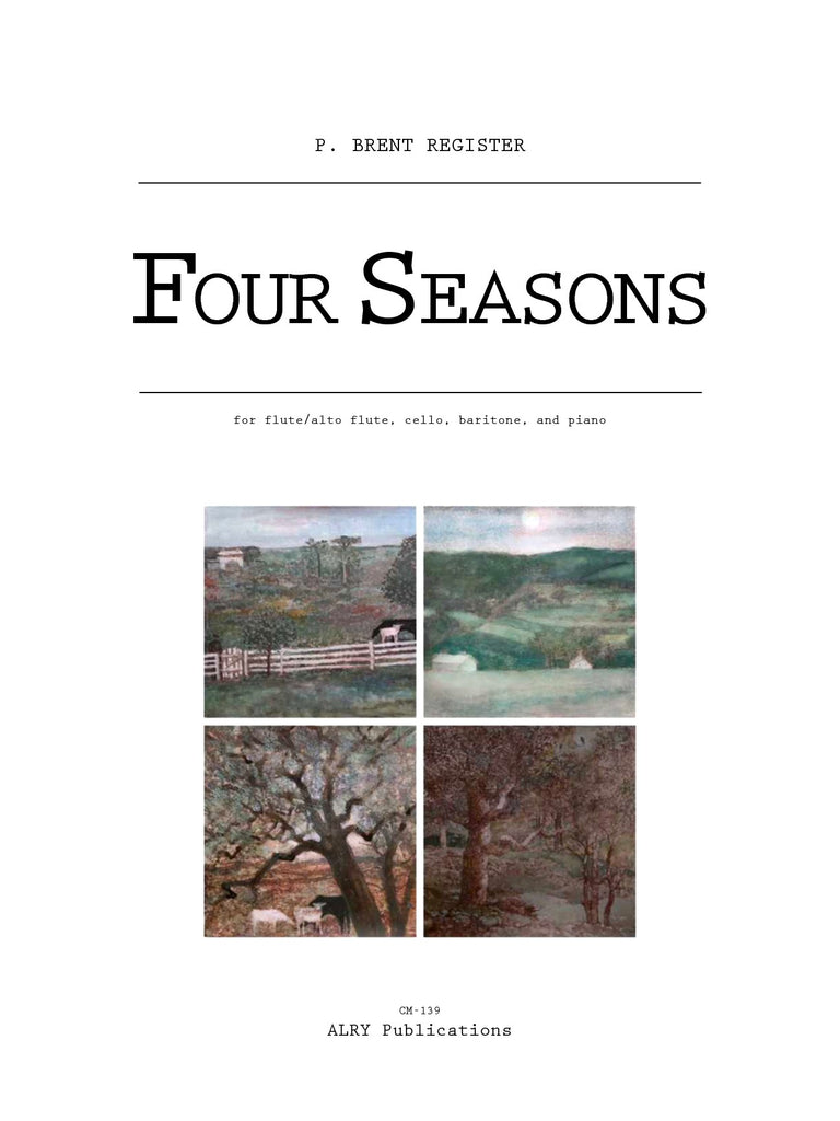 Register - Four Seasons for Flute/Alto Flute, Cello, Baritone and Piano - CM139
