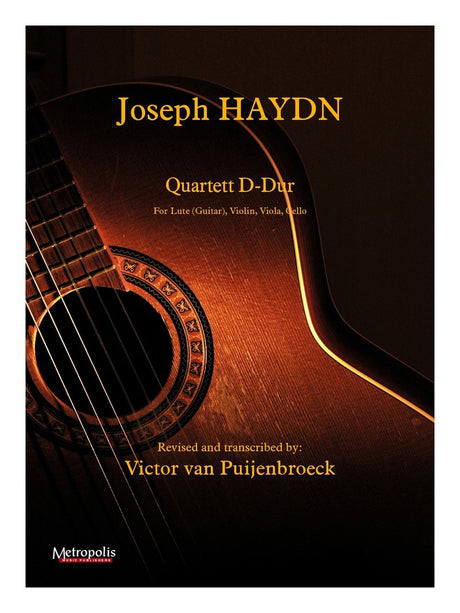 Haydn (arr. Van Puijenbroeck) - Quartet in D Major (D-Dur) for Lute, Violin, Viola and Cello - CM14013EM