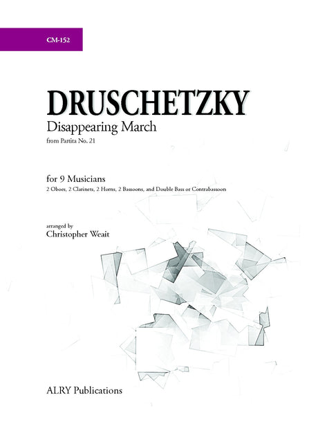 Druschetzky (arr. Weait) - Disappearing March from Partita No. 21 - CM152