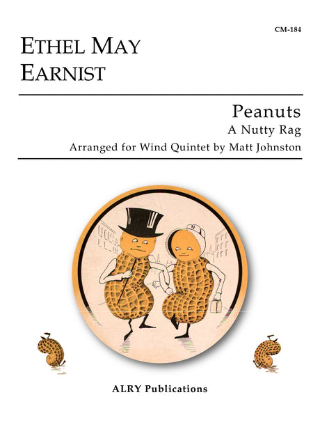 Earnist (arr. Johnston) - Peanuts (A Nutty Rag) for Wind Quintet - CM184