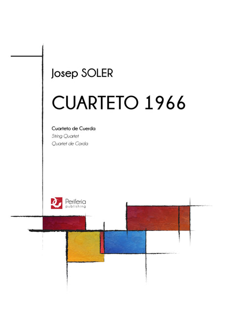 Soler - Cuarteto for String Quartet (1966) - CM3104PM