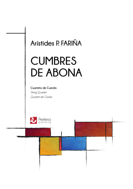Farina - Cumbres de Abona for String Quartet - CM3476PM