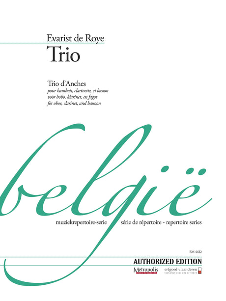 de Roye - Trio for Oboe, Clarinet and Bassoon - CM4422EM