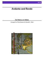 Weber - Andante and Rondo for Wind Quintet - CM59