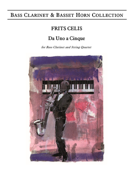 Celis - Da uno a cinque, Op.27 for Bass Clarinet and String Quartet - CM6088EM