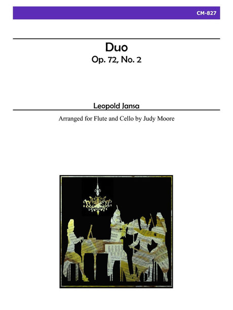 Jansa - Duo, Opus 72, No. 2 for Flute and Cello - CM827