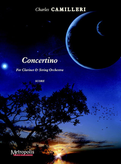Camilleri - Concertino for Clarinet and Orchestra (Full Score and Parts ) - COR6095EM