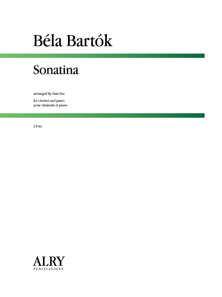 Bartok - Sonatina for Clarinet and Piano - CP01