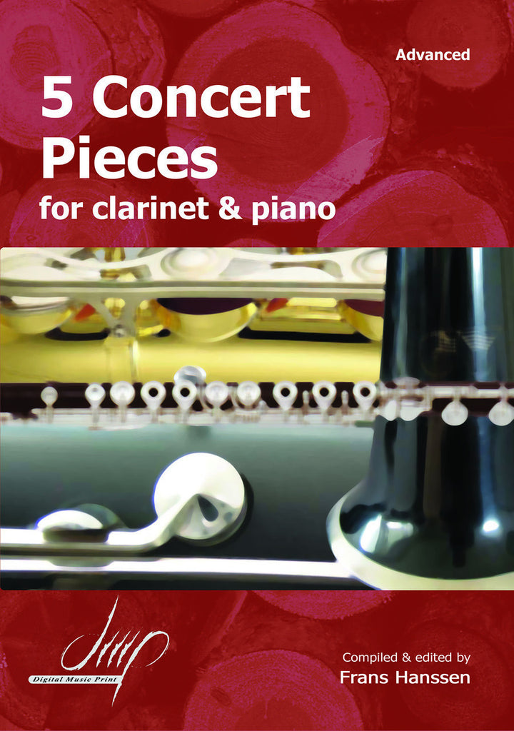 5 Concert Pieces for Clarinet and Piano - CP10608DMP