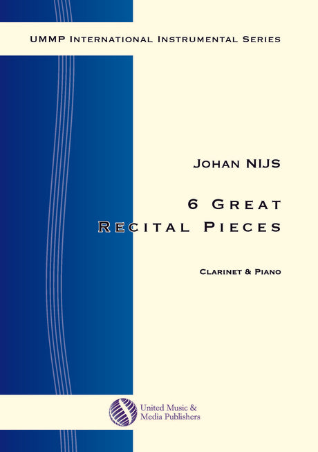 Nijs - 6 Great Recital Pieces for Clarinet and Piano - CP170509UMMP