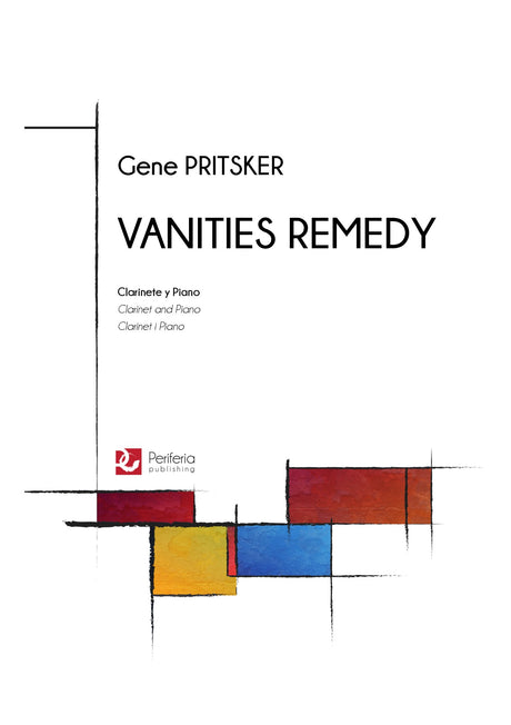 Pritsker - Vanities Remedy for Clarinet and Piano - CP3171PM