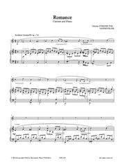 Steenhuyse-Vandevelde - Romance (Clarinet and Piano) - CP6144EM