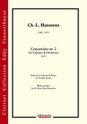 Hanssens - Concertino Nr. 2 (Clarinet and Piano) - CP6216EM