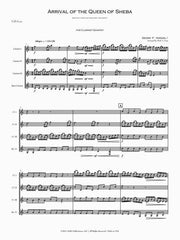 Handel (arr. Craig) - Arrival of the Queen of Sheba (Clarinet Quartet) - CQ07