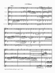 Bach (arr. Johnston) - Eight Little Preludes and Fugues for Clarinet Quintet - CQ104