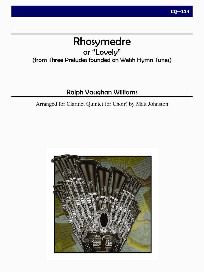 Vaughan Williams (arr. Johnston) - Rhosymedre for Clarinet Choir - CQ114