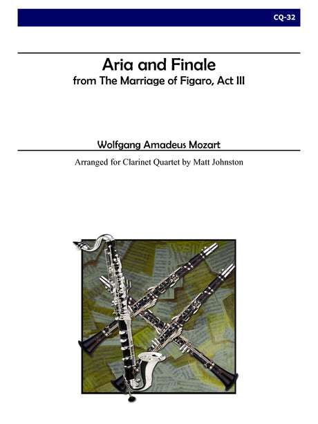 Mozart (arr. Johnston) - Aria and Finale for Clarinet Quartet - CQ32