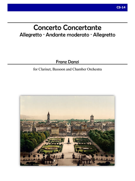 Danzi (ed. Johnston) - Concerto Concertante for Clarinet, Bassoon and Chamber Orchestra - CS14