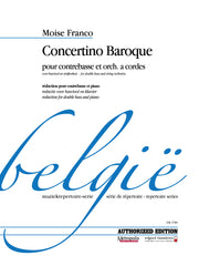 Franco - Concertino Baroque for Double Bass and Piano - DBP4789EM