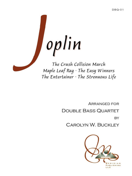 Joplin (arr. Buckley) - Scott Joplin Collection for Double Bass Quartet - DBQ01