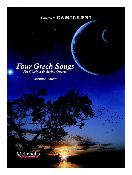 Camilleri - Four Greek Songs for Clarinet and Strings - CM6086EM