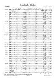 Arnold - Sonatina for Clarinet and Wind Band, op. 29 (Full Score Only) - WE6180SEM