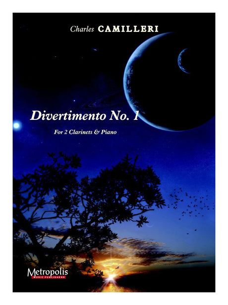 Camilleri - Divertimento No. 1 for Two Clarinets and Piano - CDP6800EM