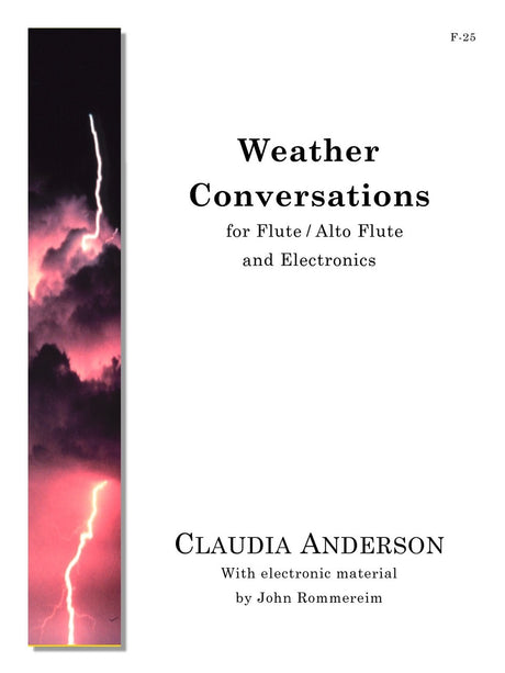 Anderson - Weather Conversations (Flute and Electronics) - F25