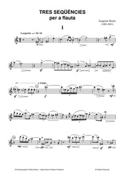 Homs - Tres Sequencies for Solo Flute - F3098PM