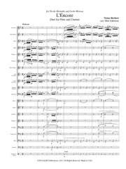 Herbert (arr. Johnston) - L'Encore for Flute, Clarinet and Concert Band - FB107