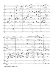 Mortelmans (arr. Johnston) - Like a Singing Bird for Flute Choir - FC367