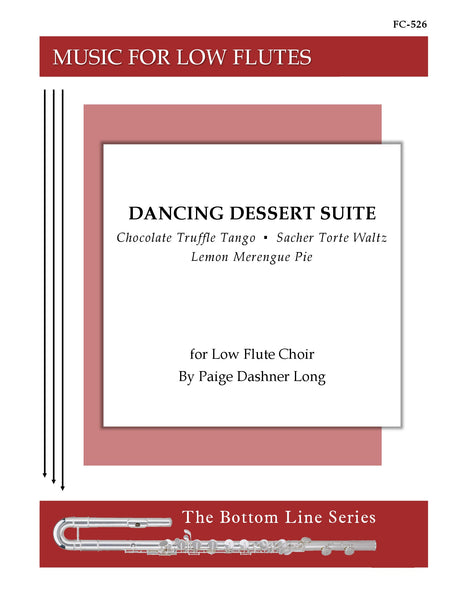 Long - Dancing Dessert Suite for Low Flute Choir and Percussion - FC526