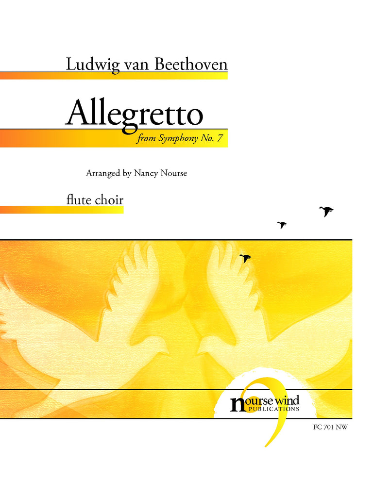 Beethoven (arr. Nourse) - Allegretto from Symphony No. 7 for Flute Choir - FC701NW