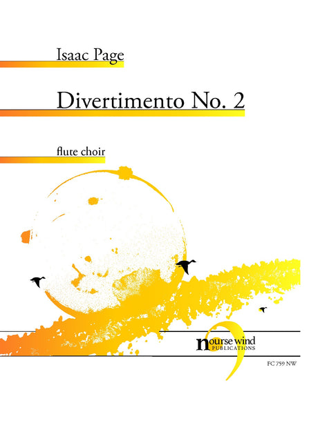 Page - Divertimento No. 2 for Flute Choir - FC759NW