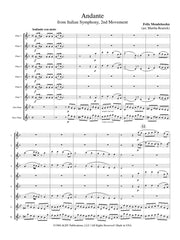 Mendelssohn - Andante (from the Italian Symphony, 2nd movement) - FC67