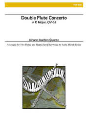 Quantz - Double Flute Concerto in G Major (Two Flutes and Piano) - FDP800