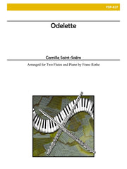 Saint-Saens - Odelette (Two Flutes and Piano) - FDP827