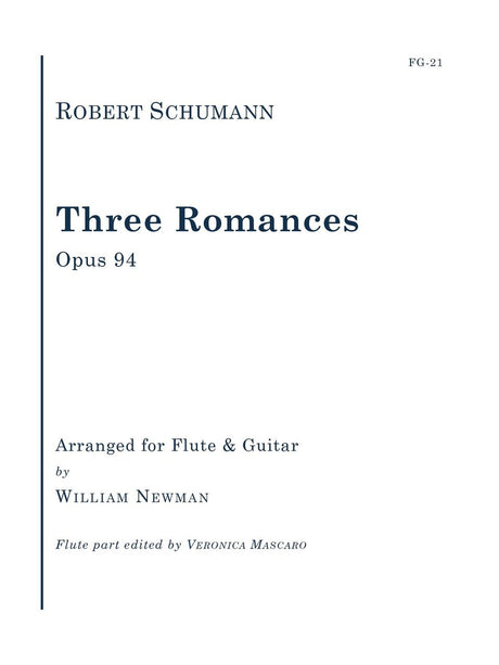 Schumann (arr. Newman/Mascaro) - Three Romances, Op. 94 - FG21