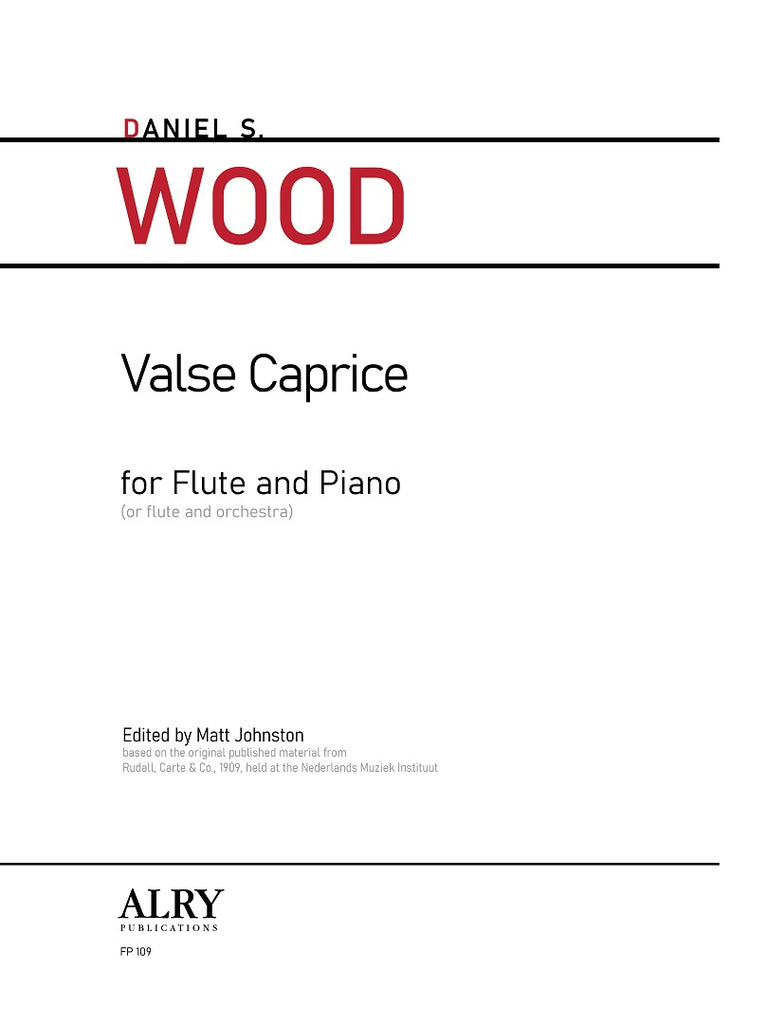 Wood - Valse Caprice for Flute and Piano - FP109