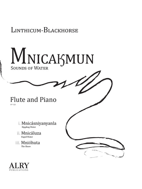 Linthicum-Blackhorse - Mnicakmun for Flute and Piano - FP159