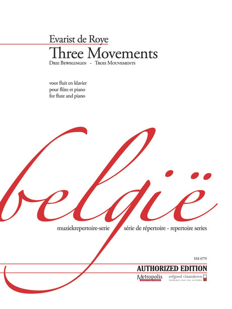 de Roye - Three Movements for Flute and Piano - FP4779EM