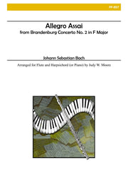 Bach - Allegro Assai from Brandenburg Concerto No. 2 for Flute and Piano - FP857