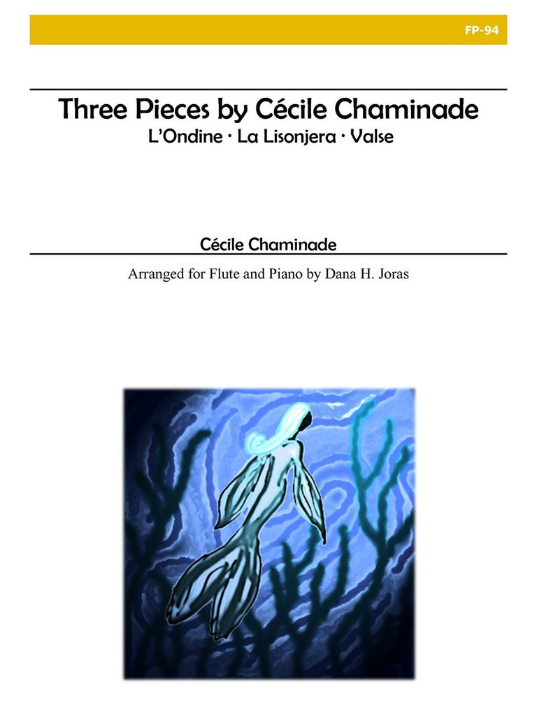 Chaminade (arr. Joras) - Three Pieces for Flute and Piano - FP94