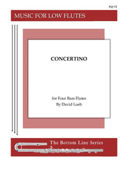 Loeb - Concertino for Four Bass Flutes - FQ72