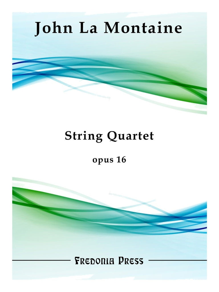 La Montaine - String Quartet, Op. 16 - FRD10