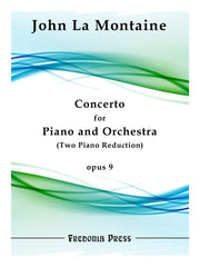 La Montaine - Concerto for Piano and Orchestra, Op. 9 (Two Piano Reduction) - FRD35