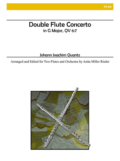 Quantz - Double Flute Concerto in G Major (Two Flutes and Orchestra) - FS04