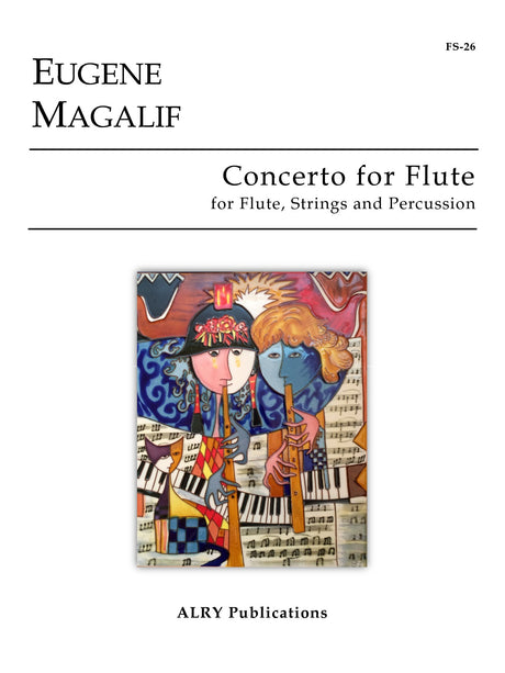 Magalif - Concerto for Flute, Strings and Percussion (Full Score ONLY) - FS26S