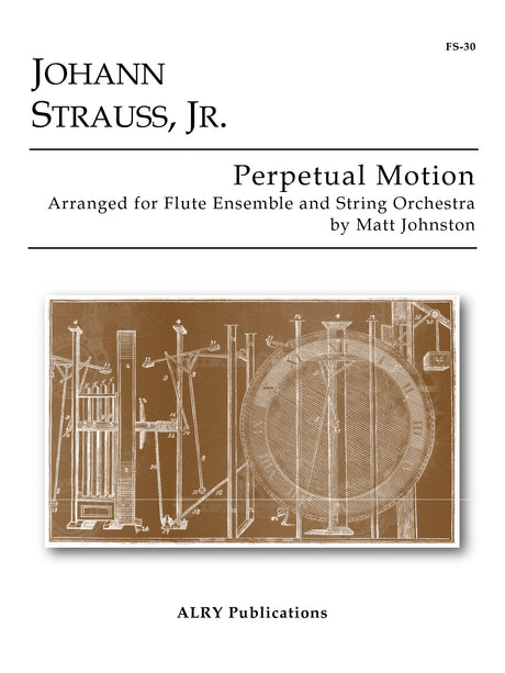 Strauss (arr. Johnston) - Perpetual Motion for Flutes and String Orchestra - FS30