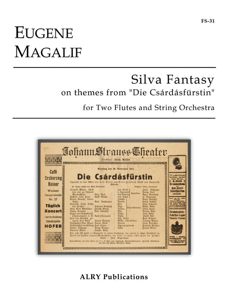 Magalif - Silva Fantasy for Two Flutes and String Orchestra - FS31